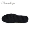 Clearance All Match Men's Spring Casual Shoes Breathable Comfort Natural Leather Wear-Resistant Rubber  Flat Walking