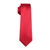Men's Necktie Solid Red Tie Sets Ties for mens Wedding Party Business