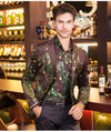 Peacock Printed Slim Fit Blazer Coat