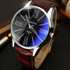Luxury Leather quartz Wristwatch