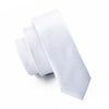 Men Ties Silk Skinny Ties For Men Narrow Slim Tie Novelty White Necktie