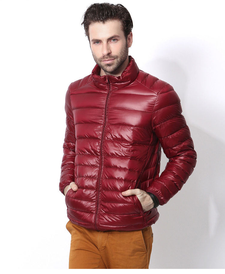Winter Down Jacket Casual Ultralight Mens Duck Down Jackets Autumn Winter Jacket Men Stand Up Collar Mens Down Jackets