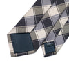 Men Ties Silk Skinny Ties For Men Slim Tie Plaid Brown Necktie