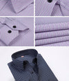 Fashion New Men Shirts Male Striped Formal Dress Shirt  Long Sleeve Mens Casual Shirts Plus Big Size US Size 5XL 6XL
