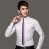Men`s Skinny Tie Pink Black Checker work Slim Neck Tie 100% Silk New Casual Classic For Wedding Party Business