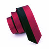 Burgandy Black Novelty Classic Skinny Tie Slim Necktie 100% Silk Casual For Men Wedding Party Business