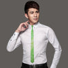 Spring Green Novelty Classic Skinny Tie Slim Necktie 100% Silk Casual For Wedding Party Business