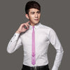 Men`s Tie Skinny Tie Locate Pattern Pink Novelty Narrow Slim Necktie Silk For Wedding Party Business