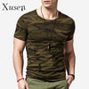 Long Sleeve Men's T-shirts Printed Camouflage Autumn Fashion Camo Cotton Tshirt Men Army Green T-shirt Style Tees