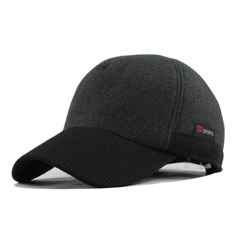 Warm Winter Thickened Baseball Cap With Ears Men S Cotton Hat Snapback Winter  Hats Ear Flaps For 7cfe0d5845b