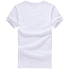 new men t shirt short sleeve casual print cotton mens tee white basic younger tshirt men plus
