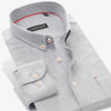 Autumn Spring Men Oxford Dress Shirts Collar Button-up Cotton High Quality Luxury Brand Slim Fit Business Men Casual Shirts
