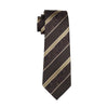 Gents Necktie Brown Paisley 100% Silk Jacquard Tie Hanky Cufflinks Set Business Wedding Party Ties For Men