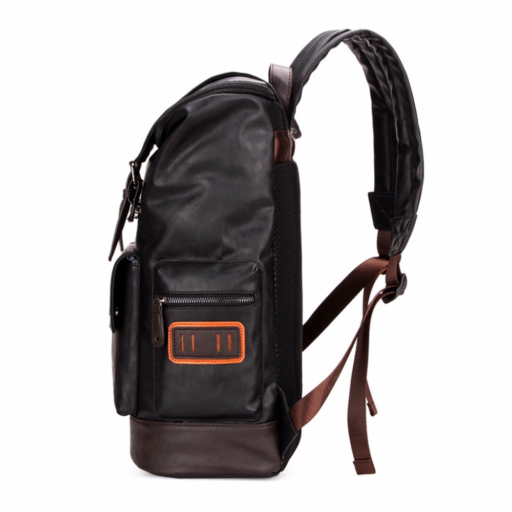 9227a814754c Simple Patchwork Large Capacity Mens Leather Backpack For Travel Casual Men  Daypacks Leather Travle Backpack