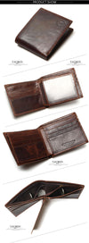 Natural Genuine Leather Men Wallets Fashion Splice Dollar Purse Mens Purse Wallet