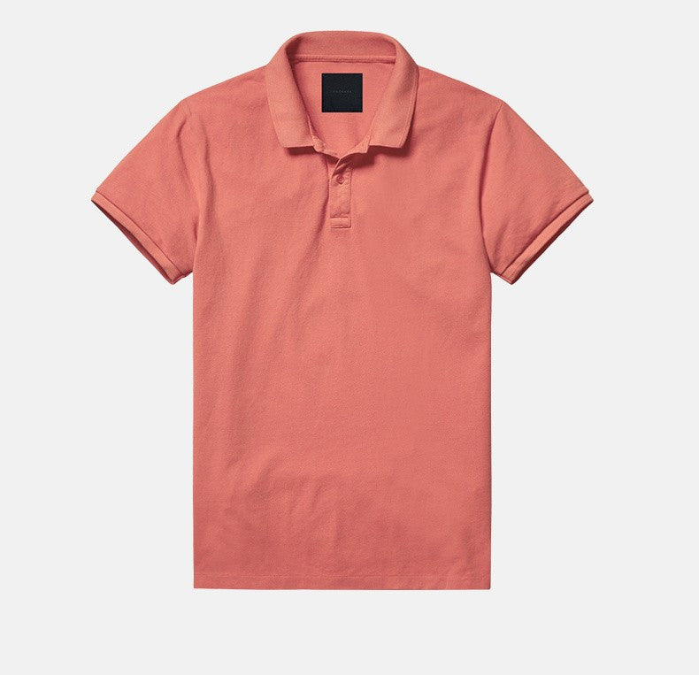 4fd3864e5e6 Summer Classic Red Casual Polo Shirt Slim Fit Men Cotton Clothing Luxury  Quick Dry Short Sleeve