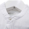Men's Linen Solid Shirts Summer Male Three Quarter Sleeve Shirt Slim Stand Collar Fluid Casual Man Top