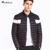 Winter Light Thin Jacket Down Men's Clothing Casual White Duck Down Coats Male Fashion Winter Jackets