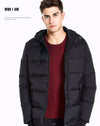 Winter Fashion Hooded Men Down Coats Clothing Casual Black Down Jackets Men Sleeve Warm Outwear