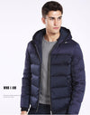 Men White Duck Down Coats Clothing Hooded Down Jacket Men's Casual Winter Outerwear Coat