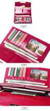 Women Genuine Leather Wallet Feminina Fashion Vintage Long Hasp Pocket Women's Coin Purse Medium-Long