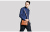 Durable Frosted Leather Men Messenger Bags Vintage Famous Business Casual Man Bag Small Simple Leather Bag
