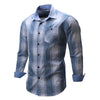 Men's shirt  Long Sleeve Plaid Shirts Mens Dress Shirt Brand Casual Denim Style Checks Tops