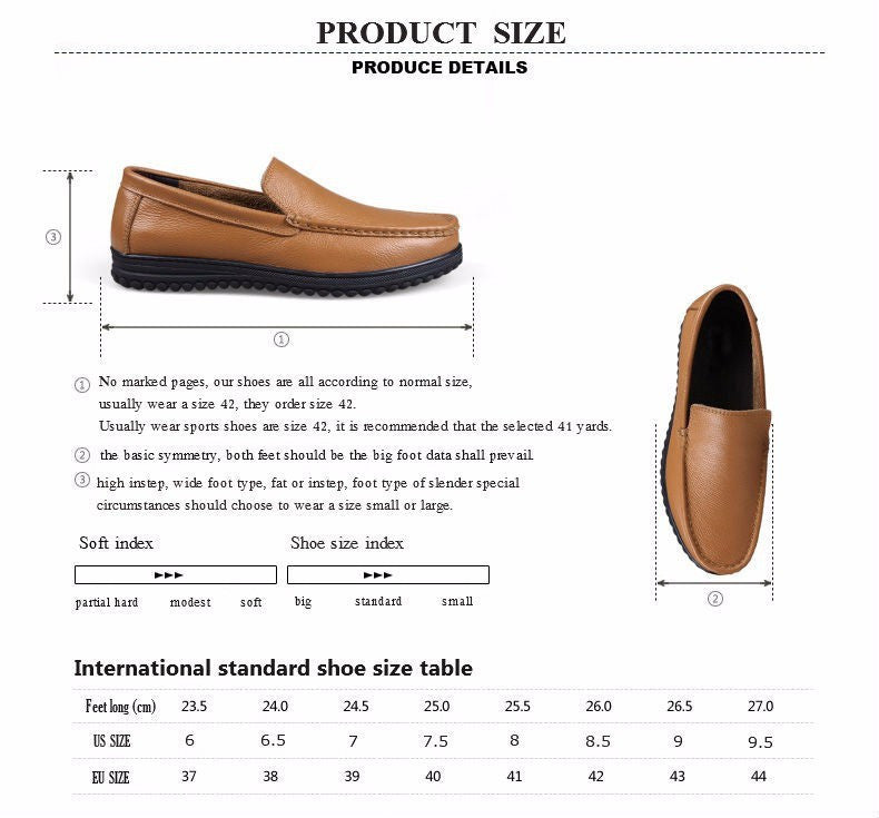 f75f6a748538 Summer New Lazy Genuine Leather Casual Men s Shoes Breathable Doug Shoes  Middle-aged Business