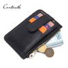 Design Casual Genuine Leather Card Case Two Style Options Wallets Slim Zipper Wallet Coin Mini Purse