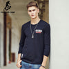 Men T-Shirt Clothing New Fashion Spring Elastic T Shirt Men Cotton Long Sleeve T shirts Men