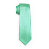 Design New Men's Necktie Green Solid Color Plain Silk Tie Sets Ties for men For Wedding Party Business
