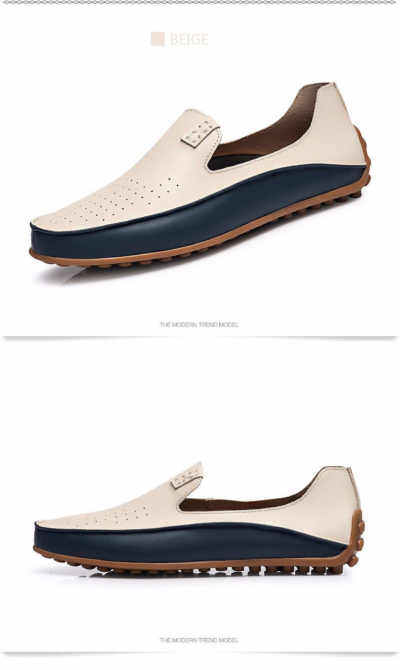 b718b4cb75eb Summer Causal Shoes Men High Quality Leather Moccasins Men Driving Shoe  Flats for Man Business