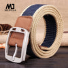 Real Solid Belt for Men Cinto men's Fashion Pin Buckle Canvas cowboy knitted Strap Casual Striped belt