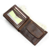 Small Vintage Wallet  Vintage Designer Leather Short Coin Purse Wallet