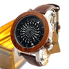 Antique Kinetic Art Mechanical Watch Luxury For Men With Skeleton hollow-out design Waterproof With Wood Box