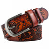 Cowhide genuine leather belts for men Strap male Vintage Style Dragon pin buckle fancy vintage jeans