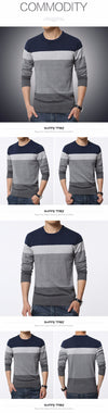 New Autumn Fashion Casual Sweater O-Neck Striped Slim Fit Knitting Mens Sweaters And Pullovers Men Pullover Men M-5XL