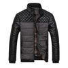 New Classic Men Fashion Warm Jackets Patchwork Plaid Design Young Man Winter Coats