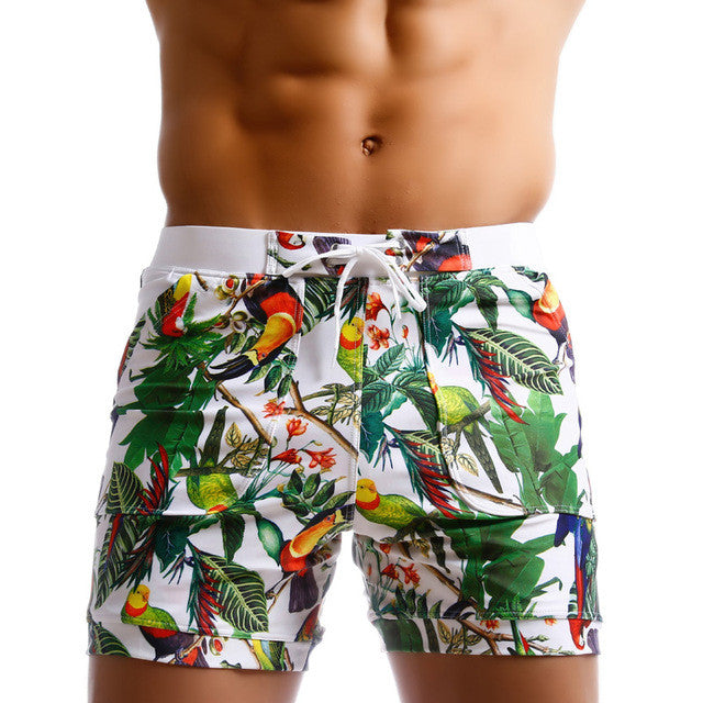 6c8d272c5a Men Swimwear Swimsuits Beach Board Shorts Boxer Trunks Sea Casual Short  Bottoms Quick Drying Gay Pockets