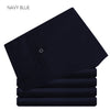 New Spring Men Suit Pants Navy Blue Black Solid Color Flat Front Long Trousers Flat Formal Business Men Black Dress Pant
