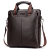 Leather Men Bags Fashion Male Messenger Bags Men's Small Briefcase Man Casual Crossbody Shoulder Handbag