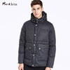 Winter Men Thick Seamless Down Coats Clothing For Man Casual Vertical Stripes Down Jackets Hooded  Men Outwear