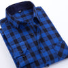 Spring Men Plaid Casual Shirts Cotton Brand Flannel Clothing Plus Size Square Collar Long Sleeve Slim Fit Dress Men Shirts