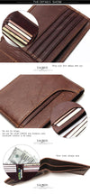 New Stylish Men Wallet Genuine Cow Leather Male Bifold Purse With Card Pocket Protection