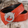 Cowhide Diamond Buckle Genuine Leather Belts