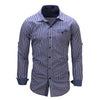 New Arrival Men's shirt  Long Sleeve Plaid Shirts Mens Dress Shirt Brand Casual Denim Style Checks Shirts 106