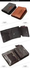 Men Wallet  Design Men Wallets Fashion Purse Card Holder Wallet Man Genuine Leather With Zipper Coin Pockets