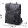 European and American Style Genuine Leather Men Backpacks Fashion Brands Black Schoolbag Real Leather Backpack