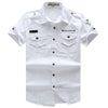 Casual Short Sleeve 100% Cotton  Plus Size Shirt