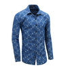 Men's Denim Shirt New Dress Shirts Male Long Sleeve Jeans Striped and Chenked Shirt Classic Fashion Casual Polka Dot Tops 080
